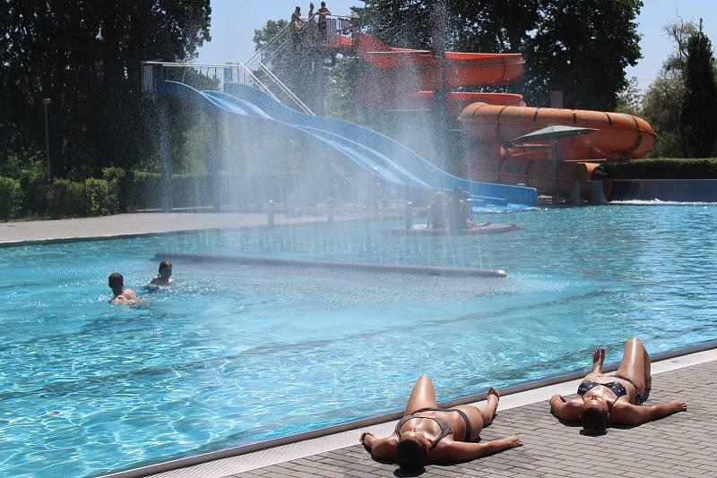 Hodonínské letní koupaliště.