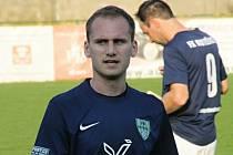 Obránce Radek Benešovský (na snímku) pomohl Mutěnicím k jednoznačné výhře 6:0 na hřišti neoblíbeného Moravského Krumlova.