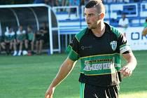 Kanonýr Bzence Petr Kasala (na snímku) se sice proti Mutěnicím střelecky neprosadil, přesto se po derby radoval z postupu do jarního čtvrtfinále.