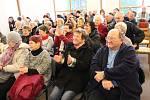 Evu Drahošovou přivítalo zaplněné Farní centrum v Hodoníně.