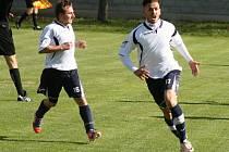 Slovenský útočník Marián Rehák (na snímku) nastřílel Hroznové Lhotě tři branky. Vacenovice na hřišti okresního rivala zvítězily 5:0.