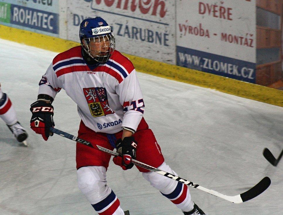 Hodonínský odchovanec Radek Kučeřík (dres číslo 12).