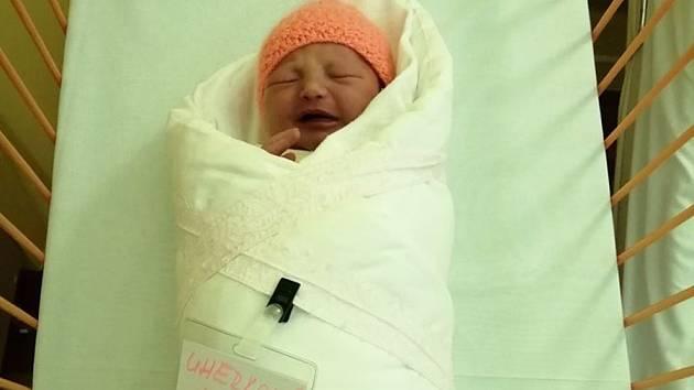 První dítě roku 2020 v kyjovské nemocnici, Karla Uherková.
