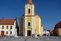 Kostel svatého Bartoloměje ve Veselí nad Moravou.
