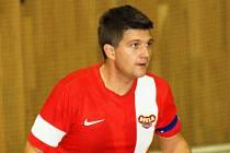 Kapitán hodonínské Dukly Karel Kučí (na snímku) musel společně se zbytkem týmu skousnout další nepříjemnou porážku.