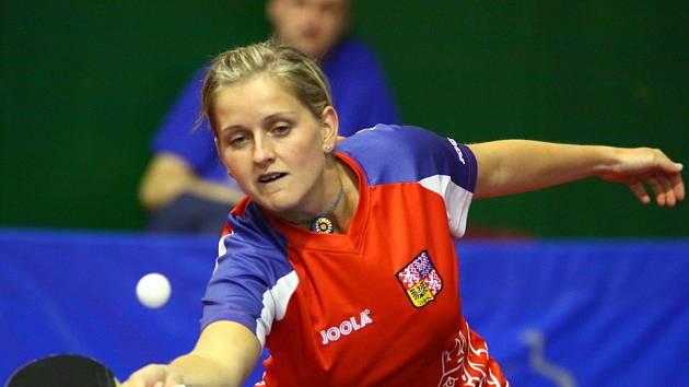 Stolní tenistka Lenka Harabaszová nahradila v Hodoníně reprezentační kolegyni Hanu Matelovou.