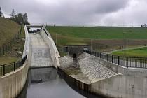 Vodárenská vodní nádrž Koryčany po dokončené modernizaci.