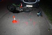 Dopravní police vyšetřovala od úterního odpoledne do středečního rána tři nehody motocyků.