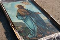 Předání obrazu svatého Klimenta na Slovensko.