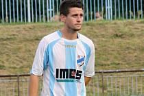 Záložník FC Veselí nad Moravou Aleš Radmil (na snímku) byl společně s útočníkem Adamem Pollákem hlavní postavu nedělního utkání v sousední Blatnici.