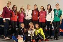 Žákyně hodonínského gymnázia skončily v letošním Corny Středoškolském atletickém poháru druhé.