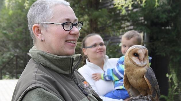 Návštěvníci zoo si mohli pohladit o sovího kluka Emila.