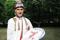Nejlepší tanečník slováckého verbuňku Stanislav Popela z Perné.
