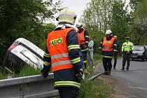 U výjezdu ze Strážnice směrem na Bzenec bourala pětatřicetiletá žena. Nadýchala přes dvě promile.