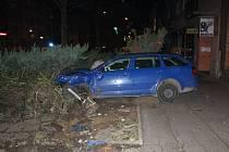 Nehoda na Národní třídě v Hodoníně.