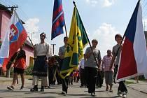 Oslavy 110 let dobrovolných hasičů v Mikulčicích.
