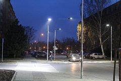 Modernizovaná část Brandlovy ulice v Hodoníně.