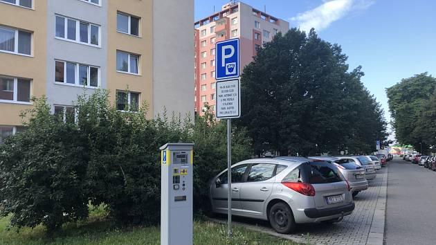 Rezidentní parkování zóna č. 3 - Velkomoravská