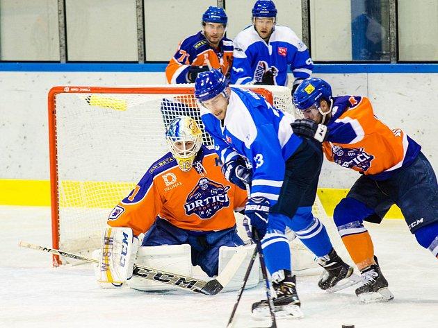 Drtiči i podruhé v sezoně vyloupili stadion ve Valašském Meziříčí.  Fotbalovou výhru vystřelil Michal Romančík a čisté konto poprvé v sezoně vychytal Ondřej Haloda. Ilustrační foto.