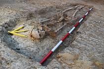 Archeologický záchranný výzkum na sídlišti Padělky ve Ždánicích. Foto: František Kostrouch