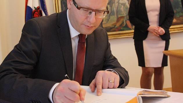 Bohuslav Sobotka při návštěvě Hodonína.