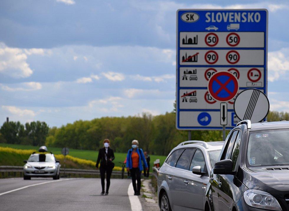 Hranice se Slovenskem na přechodu Sudoměřice - Skalica.