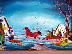 Obrazy Pavla Cicky, rodáka ze slovenského městečka Kovačice v srbském Banátu, visí až do jedenáctého října v hodonínském Regionálním centru.
