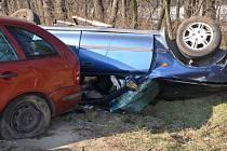 Dopravní nehoda mezi Rohatcem a Hodonínem.