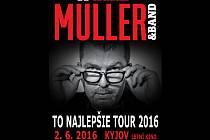Plakát ke koncertu Richarda Müllera v Kyjově.
