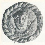 Bronzová plaketa s portrétem velmože z Mikulčic.