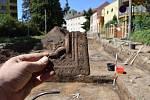 Archeologové pokračovali ve výzkumu za hodonínskou radnicí v Jánošíkově ulici. Foto: František Kostrouch