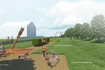 Návrh venkovního muzea těžby lignitu v Šardicích.