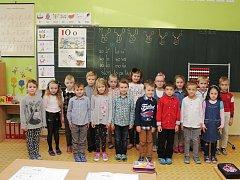 Žáci 1.B ze Základní a Mateřské školy v Ratíškovicích.