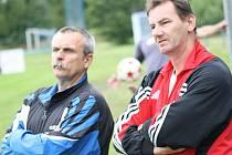 Úspěšní mládežničtí trenéři Jan Dohnálek (vpravo) a Jaroslav Řezáč se dohodli s vedením MSK Břeclav na roční smlouvě.
