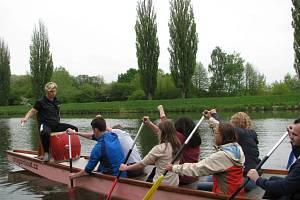 Odemykání plavební sezony na řece Moravě u hodonínského přístaviště.