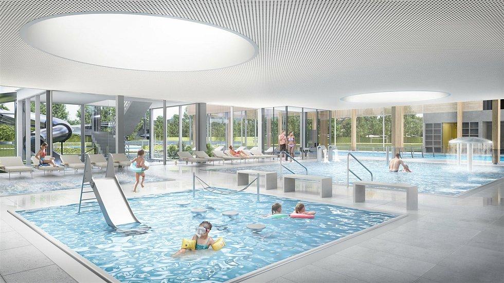 Krytý bazén v Kyjově.
