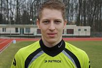Hodonínský brankář Martin Petráš na jaře v divizi ještě neinkasoval.