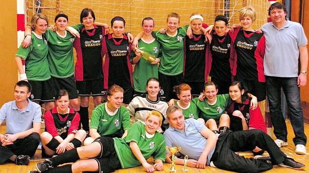 Fotbalistky Sokola Vlkoš ovládly ženský halový turnaj v brněnských Kohoutovicích.