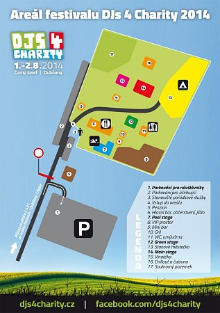 Mapa areálu festivalu.