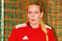 Dvaadvacetiletá gólmanka Žaneta Stojarová přišla do Veselí nad Moravou z Písku. Bydlí ale ve Zlíně.