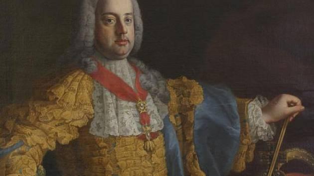 František Štěpán Lotrínský s Řádem zlatého rouna na krku.