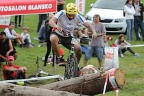 Hodonínský biketrialista David Herka skončil na mistrovství světa v Blansku třetí.
