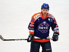 Ani trefa útočníka Dominika Matuly (na snímku) hodonínským hokejistům k bodům nepomohla. Drtiči prohráli ve Valašském Meziříčí 2:5.