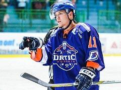Jednadvacetiletý útočník Hodonína Michal Venclík (na snímku) se při své premiéře ve druhé hokejové lize blýskl gólem do sítě Opavy.