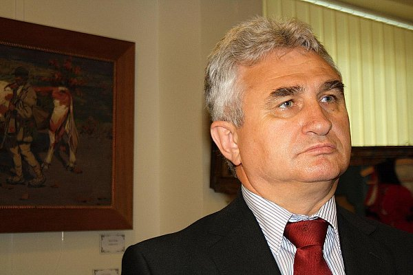 Předseda Senátu České republiky Milan Štěch navštívil veselskou Galerii Joži Uprky.