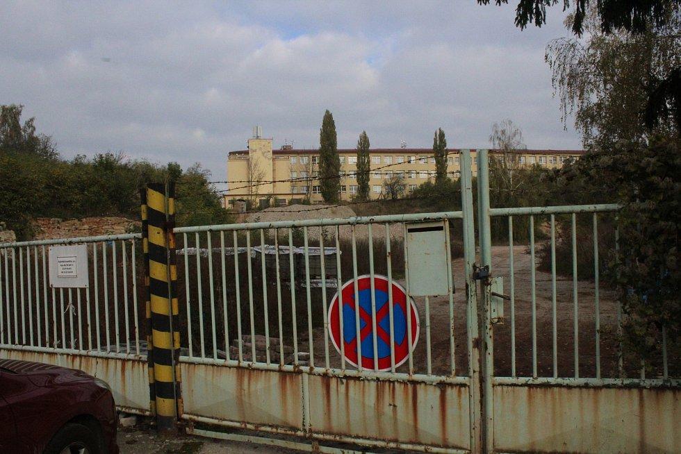 Areál bývalých vinařských závodů v Kyjově a jeho okolí.