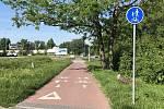 Cyklostezka do Lužic již brzy prodlouží nový úsek.