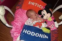 Victoria Sobotková, 47 cm, 3330 g, 23. ledna 2016,  Hodonín, Nemocnice Kyjov.