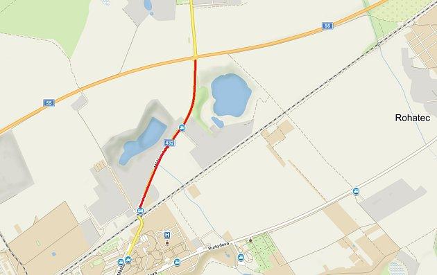 Silnice mezi pánovskou křižovatkou a Černým mostem se uzavře.