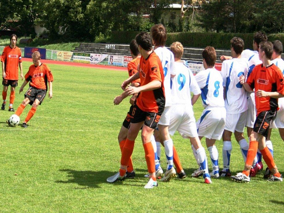 Krajský přebor: Kyjov (v oranžovém) vs. Ivančice